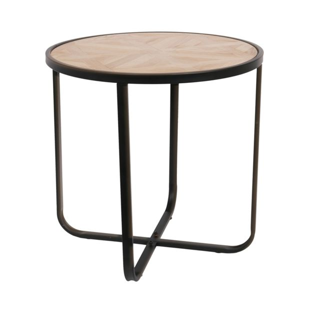et métal Factory Table Multicolore The bois Concept ronde BWdxoerC