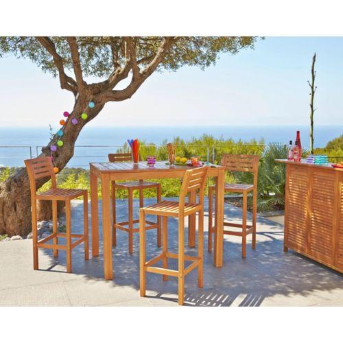 CARREFOUR - Chaise haute de jardin - Acacia - pas cher Achat / Vente ...