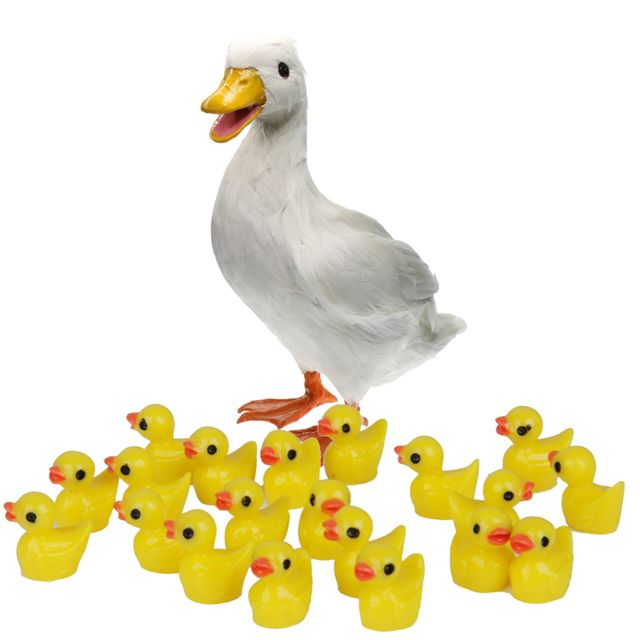 Ornement de figurine de canard animal