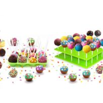 YOKO DESIGN - Kit cake pops - Moule en silicone, support et 120 bâtonnets