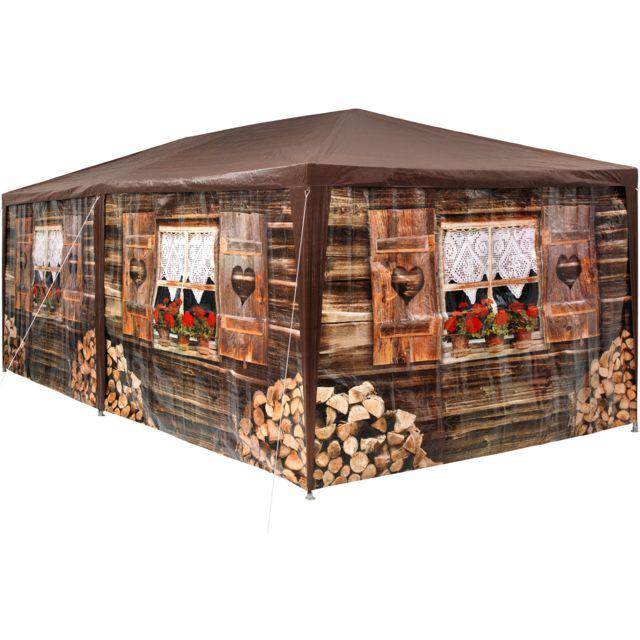 Tonnelle de Jardin de Style Alpin 5 Panneaux 18m²