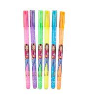 Top Model - Pochette 6 stylos Gel couleurs Néon
