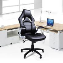 Rocambolesk - Superbe Fauteuil de bureau hauteur réglable simili cuir siège de bureau Obg62B neuf