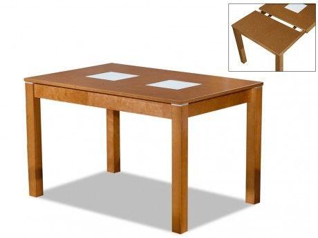 Vente-unique Table extensible Salena Ii - 4 à 6 couverts - Hêtre massif coloris chêne