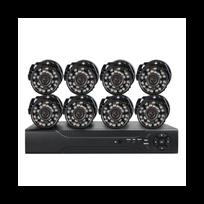 Auto-hightech - Kit Système Surveillance Dvr 8 camera extérieur capteur Cmos 1/4 pouces vision nocturne