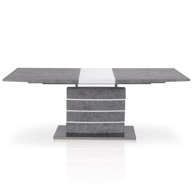 MENZZO Table extensible Bilma Effet béton