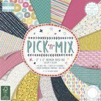 First Edition Paper - Bloc scrapbooking 48 feuilles 30,5cm Pick N Mix