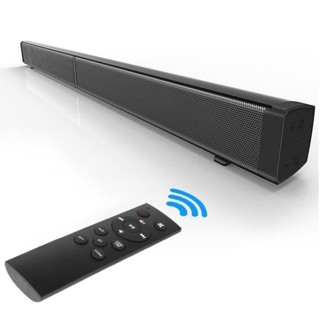 wewoo enceinte bluetooth noir barre de son home theater de sans fil haut parleur avec. Black Bedroom Furniture Sets. Home Design Ideas