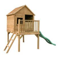 cabane bois pilotis achat cabane bois pilotis pas cher rue du commerce. Black Bedroom Furniture Sets. Home Design Ideas