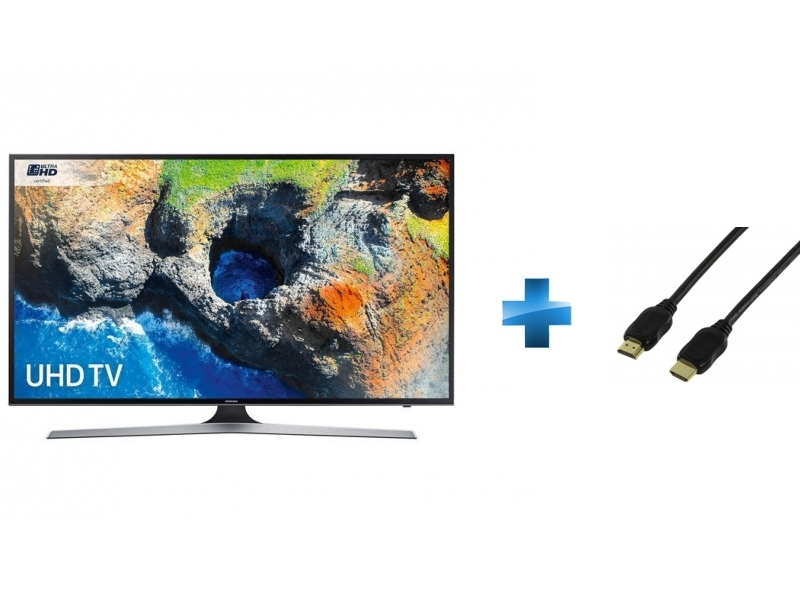 TV LED 55'' - 55MU6125 + Cordon HDMI 1.4 - 1.5 mètres