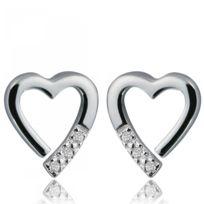 Hot Diamonds - Boucles d'oreilles Coeur Argent Fantaisie
