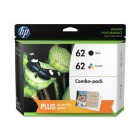 HP - N9J71AE - Pack de 2 Cartouches d'encre 62 Noir et 3 couleurs
