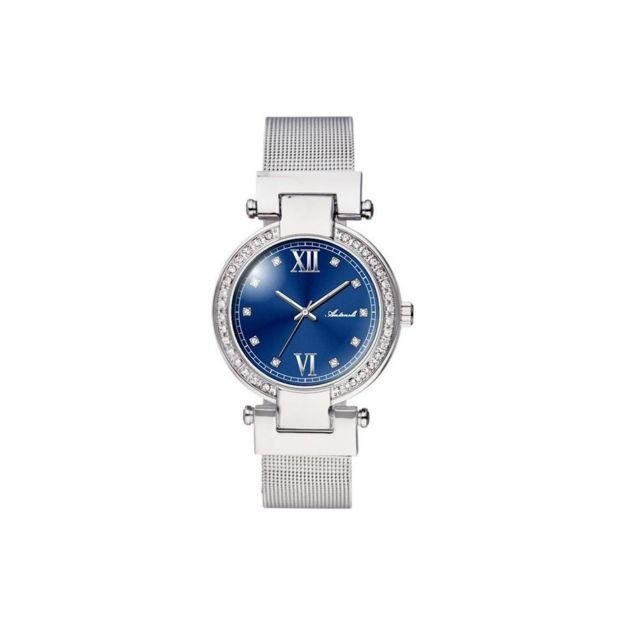 Antoneli - Montre Femme Cadran 33mm En steel Bleu Et Bracelet Argenté En Acier Al0500-06
