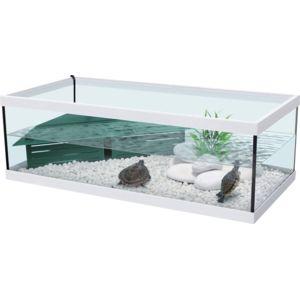 Zolux aquarium pour tortue d 39 eau aquatlantis tortum 75 blanc pas cher achat vente - Aquarium complet pour tortue d eau ...