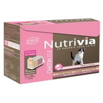 Nutrivia - Sachets Menu Délices à la Viande pour Chaton - x12