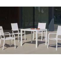 BELIANI - Ensemble de jardin - Canapé de terrasse en alluminium ...