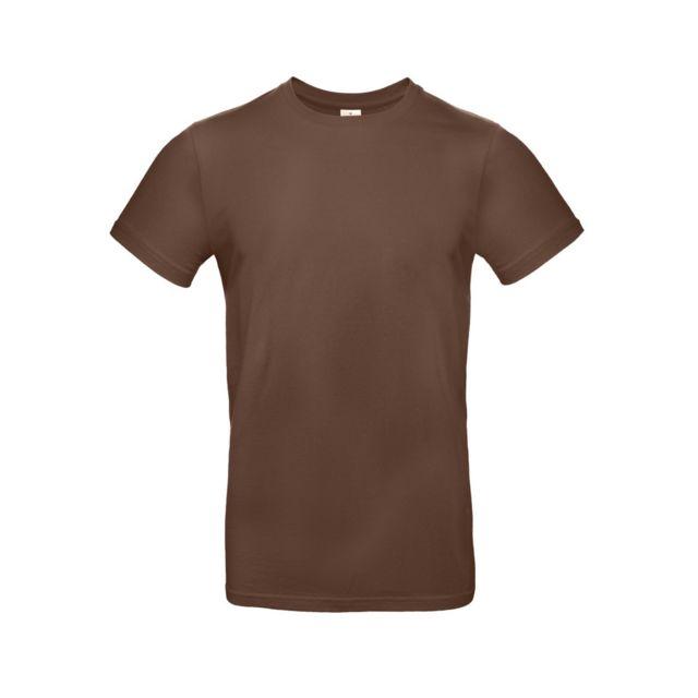 B&C PRO B&C - T-shirt manches courtes - Homme L, Marron foncé Utbc3911