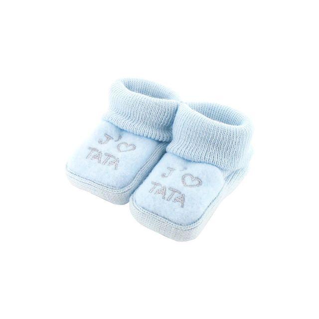 c073549d75d26 Fruit De Ma Passion - Chaussons pour bébé 0 à 3 Mois bleu - J aime tata -  pas cher Achat   Vente Chaussures