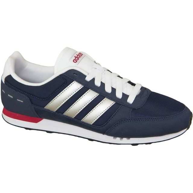 ADIDAS NEO Baskets City Racer Chaussures Homme gris et blanc