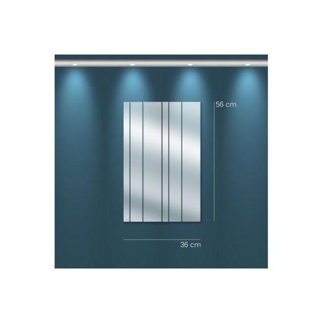 Declikdeco Miroir rideau Pm argenté en verre Tomo 56x36cm