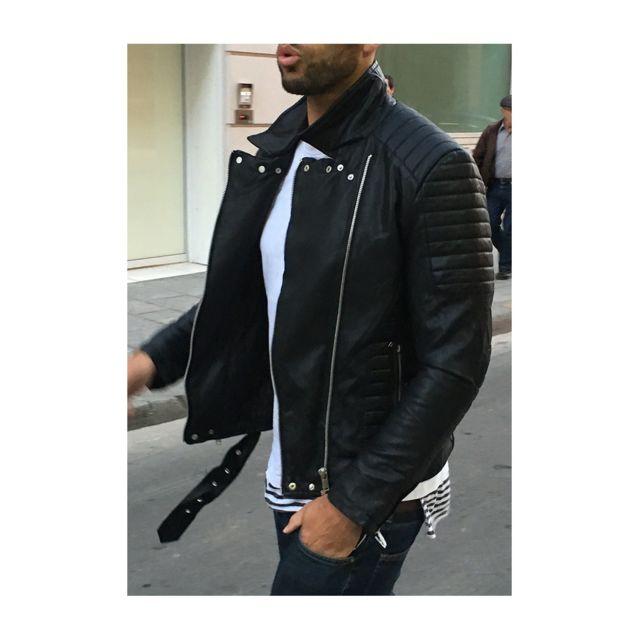 bien pas cher meilleur fournisseur prix attractif veste simili cuir homme