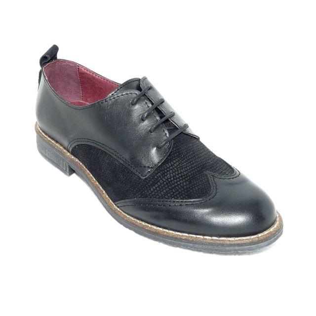 Santafe - Derbies femme chaussures femme Cuir noir lacets - pas cher Achat    Vente Chaussures de ville femme - RueDuCommerce 5174d7076c9