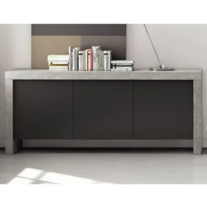 inside 75 temahome kobe buffet design b ton 3 portes pas cher achat vente buffets. Black Bedroom Furniture Sets. Home Design Ideas
