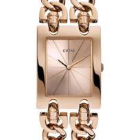 Guess - Montre - W0073L2 - Montre Femme - Quartz Analogique - Cadran Doré - Bracelet Acier Doré rose