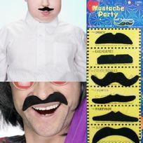 Totalcadeau - 6 fausse moustaches adhésives accessoire de déguisement