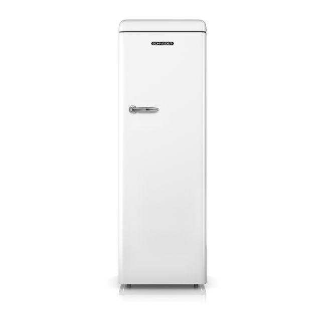 Schneider - Sl328VW Réfrigérateur une porte tout utile Vintage 328 litres - froid brassé - coloris blanc - A