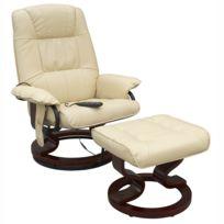 CONFORT LINE - fauteuil de massage chauffant blanc - tc3-029