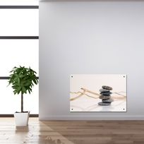 CHEMIN'ARTE - Radiateur électrique décoratif - Galets Zen