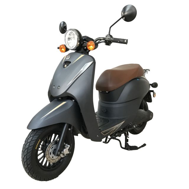 eurocka scooter lectrique cka wave batterie lithium gris mat eurocka 50 achat vente. Black Bedroom Furniture Sets. Home Design Ideas