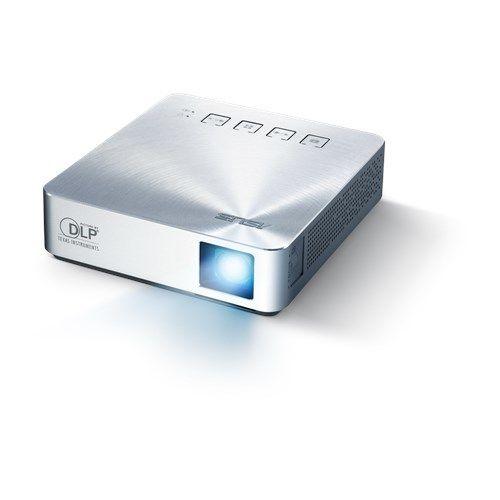 ASUS Vidéoprojecteur S1 - Argent ASUS S1 Projecteur LED portable, 200 Lumens,batterie de 6000mAh intégrée, jusqu'à3 heures de projection,Power Bank, HDMI/MHL
