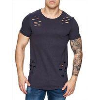 Freeside - Tee shirt troué 16111 Gris