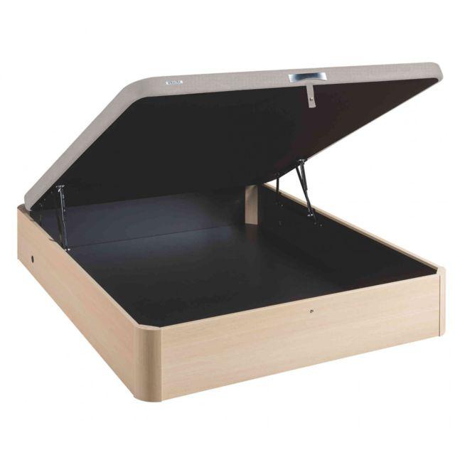 bultex sommier lit coffre en kit bouleau asteroid 140x190 pas cher achat vente sommiers. Black Bedroom Furniture Sets. Home Design Ideas