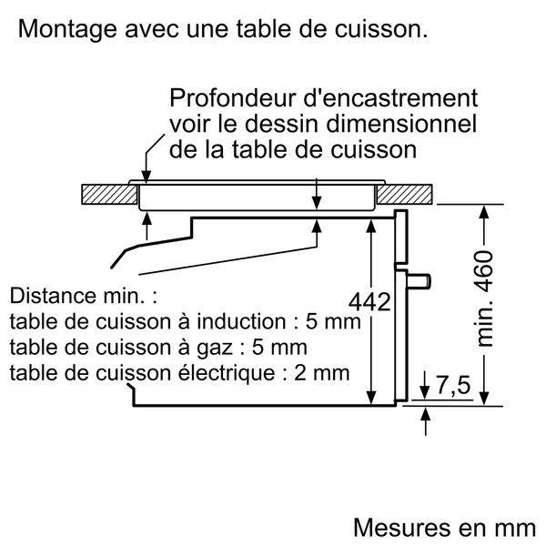 SIEMENS - four combiné mo intégrable 45l pyrolyse inox/noir - cm676gbs1