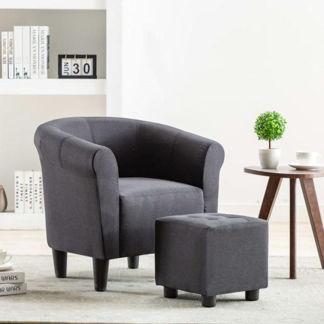 Superbe Fauteuils et chaises ligne Séoul Fauteuil Noir Tissu