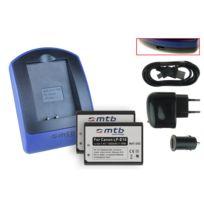 mtb more energy® - 2 Batteries + Chargeur USB, Lp-e10 pour Canon Eos 1100D, Rebel T3