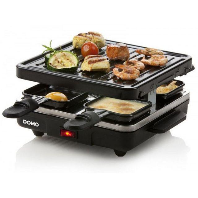 Domo appareil raclette 4 personnes 600w gril do9147g - Appareil raclette 4 personnes ...