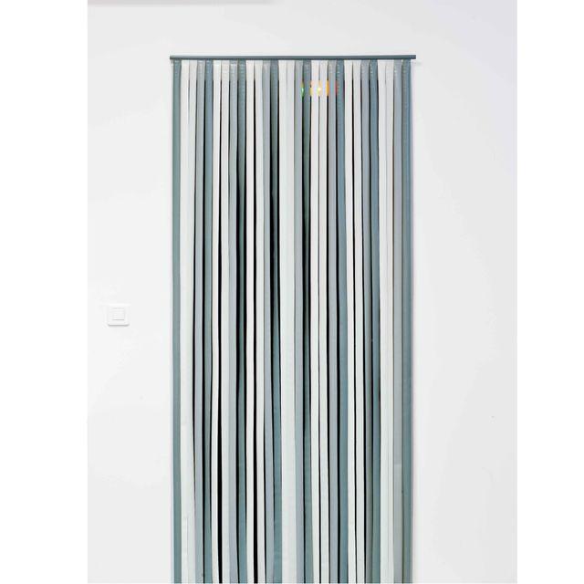 Provence outillage rideau de porte gris 90x200cm pas cher achat vente rideaux de porte - Rideaux plastique laniere ...