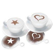 Westmark - Pochoir de décoration gâteau ou cappuccino X 3