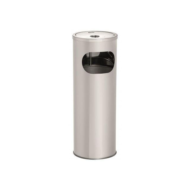 Bartscher Cendrier sur colonne - 11 L Inox