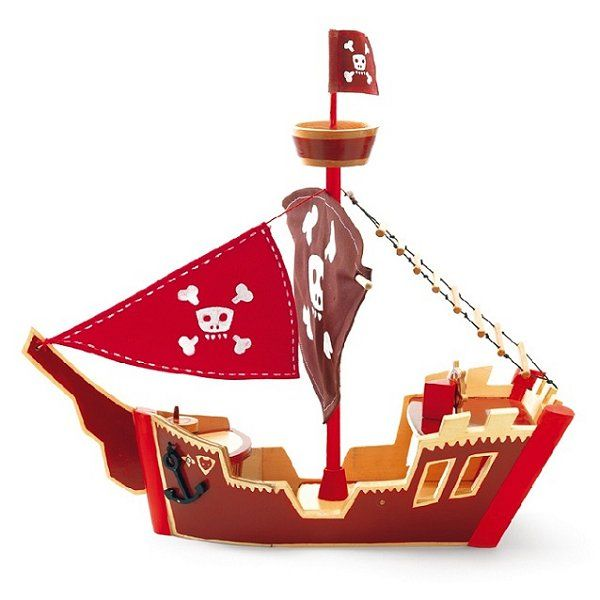 Djeco Bateau pirate Arty Toys Les pirates : Ze Pirat Boat