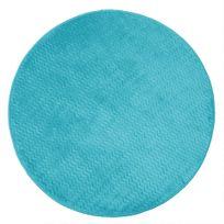 Le Jardin Des Cigales - Cdaffaires Tapis rond 0, 90 cm velours uni zigga Bleu