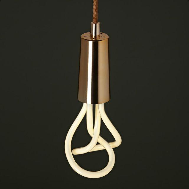 Plumen Suspension Cuivre et Ampoule Original 001 H9,7cm - Suspension designé par Samuel Wilkinson