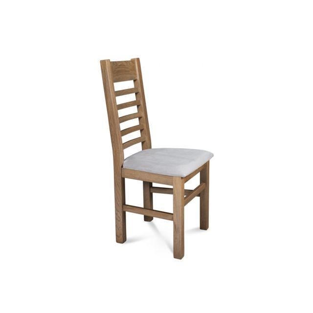 hellin lot de 2 chaises en chne poivre assise grise - Chaise Chene