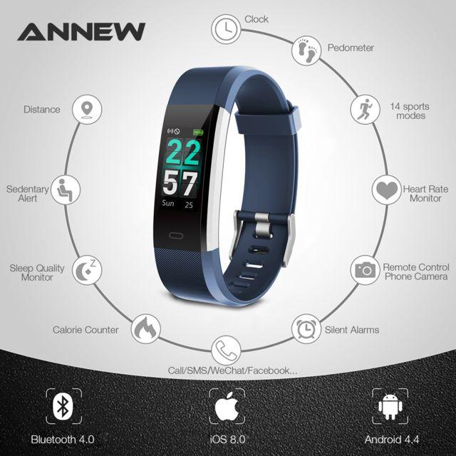 prix incroyables haut de gamme authentique prix abordable 115Pro-Bracelet connecté sport iOS Android Smart Watch Etanche Ip68 -Bleu