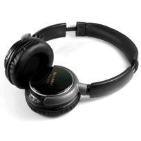 Technaxx - Musicman Basshead Casque Audio sans fil avec lecteur Mp3 intégré et radio Fm - Noir