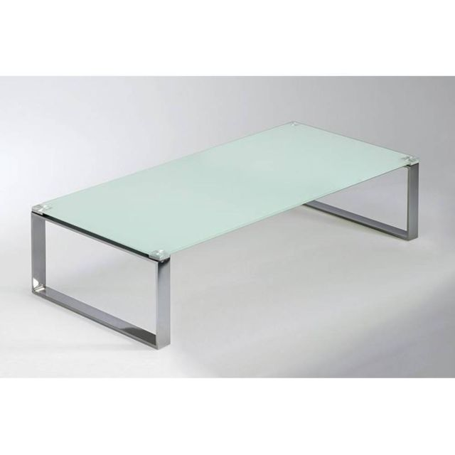inside 75 table basse miami en verre blanc 120cm x 30cm - Inside75 Table Basse